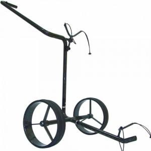 Der Golftrolley JuCad Carbon zeichnet sich durch seine extreme Leichtigkeit sowie durch sein Design aus. Der Zweirad Trolley ist extrem wendig und verfügt über ein dunkles Design. (Foto: JuCad)