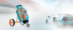 Der Golftrolley JuCad GT zeichnet sich durch seine Farbenvielfalt und Leichtigkeit aus. (Foto: JuCad)