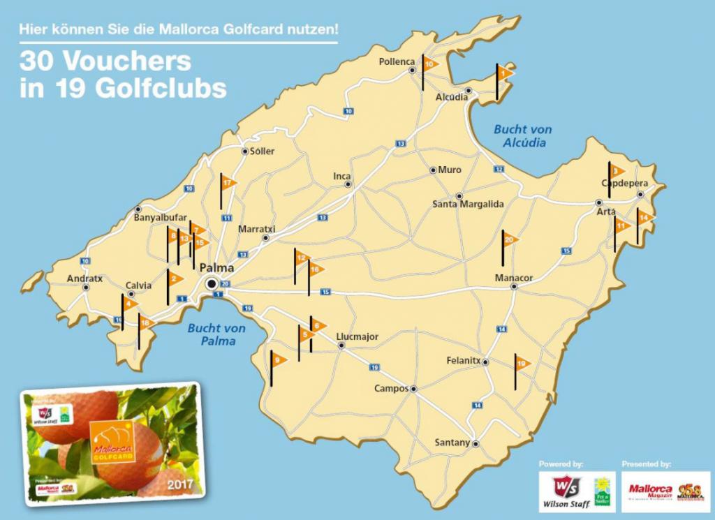 Mallorca Golfcard 2017: Hier können Sie die Karte nutzen! (Bild: Mallorca Golfcard)