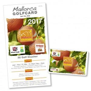 Die Mallorca Golfcard 2017 mit 30 Golf-Vouchern. (Bild: Agentur Michael Jacoby)