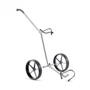 Der Golftrolley TiCad Pro Basic eignet sich zum Schieben und Ziehen für schweres Golfequipment. Dieser Trolley ist sehr wenig und ist sehr leicht. (Foto: TiCad)