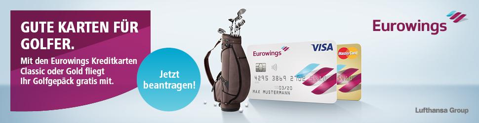 Mit Eurowings kann Ihr Golfgepäck kostenlos auf Riesen gehen.