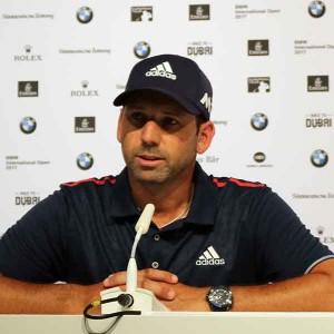 Sergio Garcia auf der Pressekonfernez. (Foto: Golf Post)