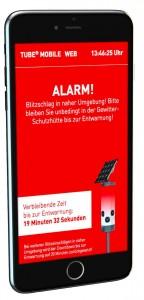 Die Warnmeldung auf dem Smartphone. (Foto: Coptr)
