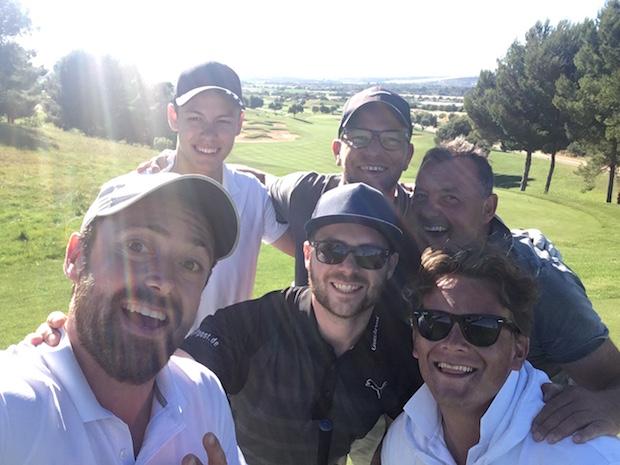 Das Golf Post Team mit Ralph von der Finca Cataleya. (Foto: Golf Post)