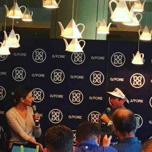 Zusammen mit seinem Ausrüster G/Fore und einigen Journalisten brunchte Bubba Watson am Dienstag vor der 146. Open Championship. (Foto: Golf Post)