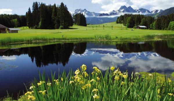 Hier zu sehen: Golfplatz Oberallgäu, Bahn 3. (Foto: Golf Resort Sonnenalp-Oberallgäu)