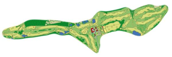 Der Bobby Jones Champion-Course: Par 73, 5.285m Länge Damen, 6.280m Länge Herren. (Foto: Spa & GolfResort Weimarer Land)