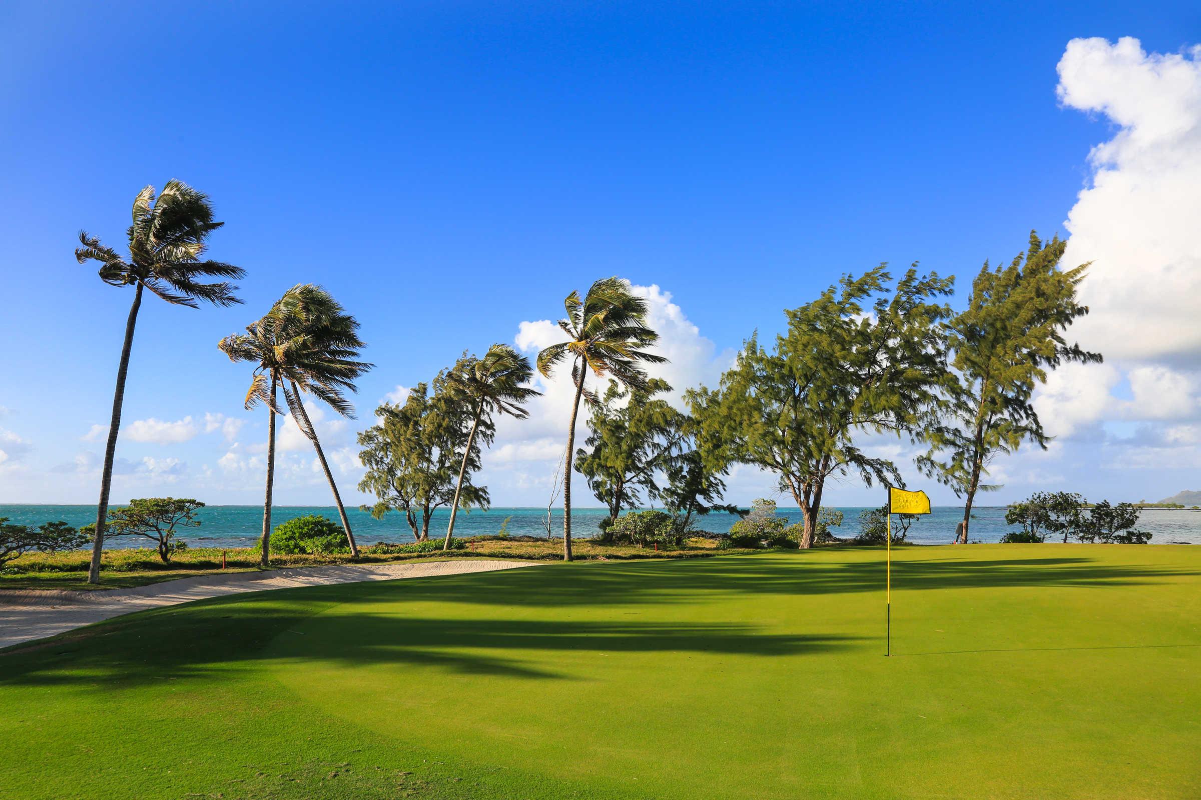 Der Île aux Cerfs Golfplatz gehört zu den bekanntesten und spektakulärsten Plätzen der Welt. (Foto: Sun Resorts)