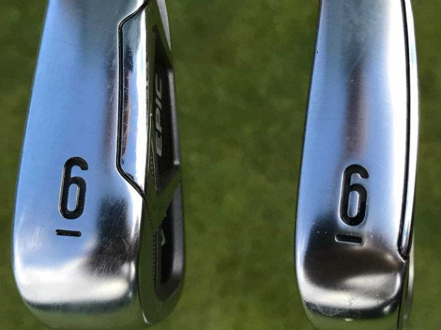 Der Unterschied im Design ist deutlich zu sehen. Links das Epic und rechts das Epic Pro Eisen. (Foto: Golf Post)