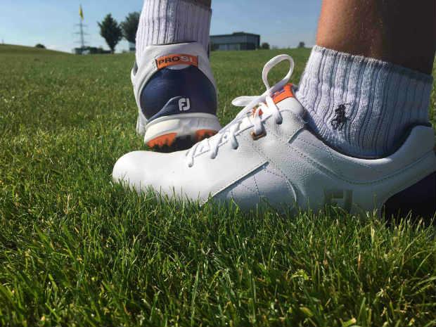 Beim ersten Turnier mit dem neuen FootJoy Pro/SL purzelte zwar nicht das Handicap, aber der Schuh überzeugte auf ganzer Linie. (Foto: Golf Post)