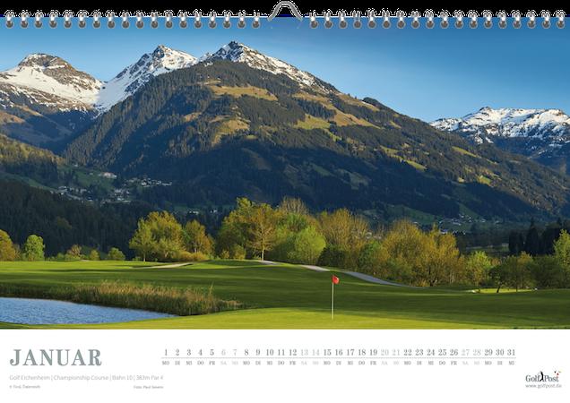Golf Eichenheim in Österreicher ist das Januarblatt im Golf Kalender (Foto: Golf Post)