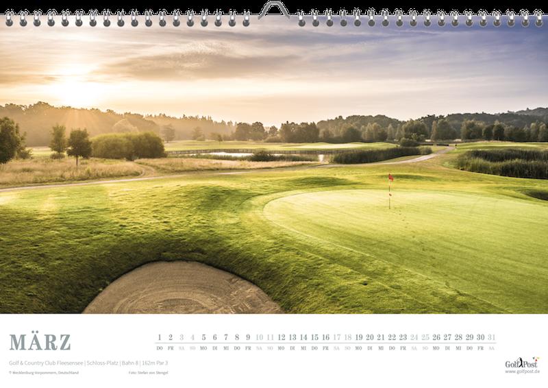 Der Schloss-Platz ist als Märzblatt im Golfkalender vertreten (Foto: Golf Post)