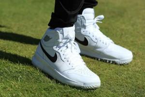 Jason Day mit dem Nike Golfschuh Jordan One während der PGA Championship 2017. (Foto: Getty)