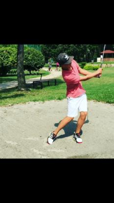 Golf Post Leser Luca Grave setzte den Adidas Golfschuh sandigen Bedingungen aus. (Foto: Luca Grave)