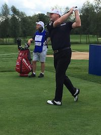 Paul Lawrie auf dem Meisterschaftsplatz im Bad Griesbach (Foto: Facebook.com/Quellness Golf Resort Bad Griesbach)