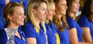 Team Europe des Solheim Cup 2017 in Des Moines mit Annika Sörenstam und Caroline Masson. (Foto: Getty)