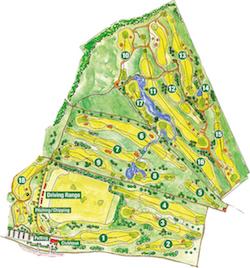 Platzübersicht der Golfanlage Harthausen (Foto: https://golfanlage-harthausen.de/anlage/platz.html)