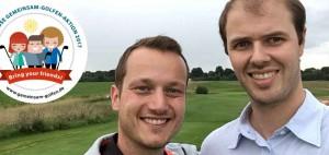"""Golf Post Redakteur Tobias Hennig mit seinem Freund Miki beim Golfen im Rahmen der """"Gemeinsam Golfen 2017""""-Aktion. (Foto: Golf Post)"""