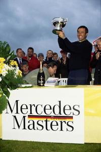 Seve Ballesteros gewinnt das German Master auf dem Meisterschaftsplatz des Motzener See 1994 (Foto: Getty)