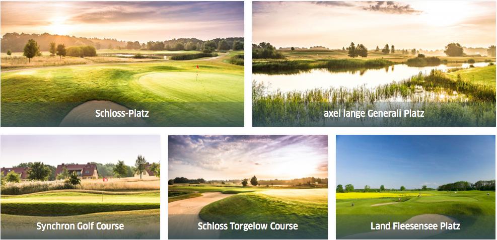 Drei 18-Loch-Plätze und zwei 9-Loch-Plätze sorgen für endloses Golfvergnügen das man erlebet haben muss. (Foto: Fliesensee Hotels & Sportresort)