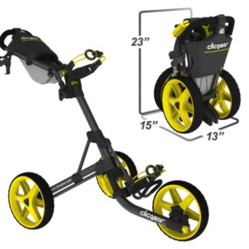 """Golf-Trolleys: Der ClicGear ist eine wahre """"Pistensau"""" auf dem Golfplatz und überzeugt vor allem durch seine außerordentliche Stabilität. (Foto: ClicGear)"""