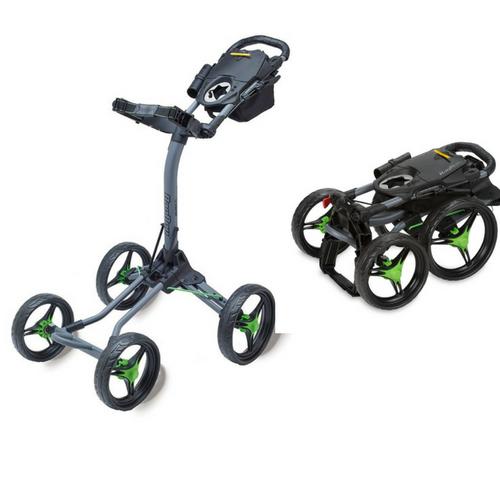 Golf-Trolleys - Der Bag Boy Quad Plus ist mit seinen vier Rädern ein wahrer Eye-Catcher, doch auch in Sachen Stabilität hat er einiges zu bieten. (Foto: Bag Boy)