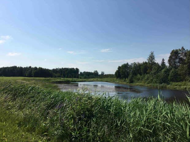 """Die Wasserhindernisse im """"The V Golf Club"""" haben es in sich. (Foto: Golf Post)"""