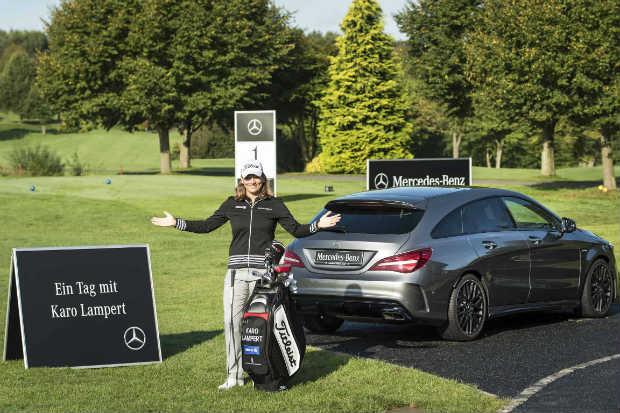 Zwischen den Qualifying Stages der LPGA Tour fand Karo Lampert die Zeit im Gut Heckenhof aufzuteen. (Foto: Mercedes-Benz)