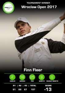 Pro Golf Tour: Fleers Scorekarte kann sich sehen lassen. Mit 13 unter ging es zum Sieg. (Foto: PGA of Germany)