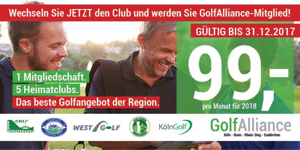 Aktuelles Angebot der Golf Alliance. (Bild: Golf Alliance)