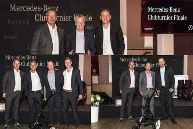 Die Sieger des Mercedes-Benz Clubturnier Finals wurden mit Preisen von Titleist und Motocaddy bedacht. (Foto: Mercedes-Benz)