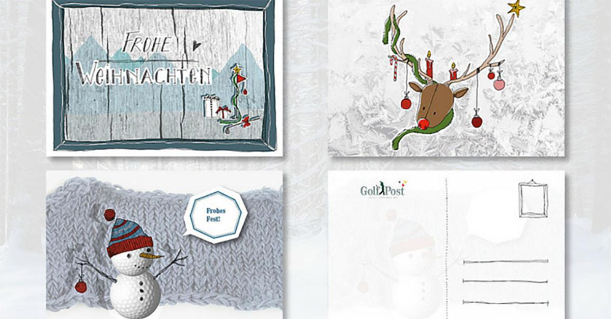 golf post weihnachtskarten jetzt golferische gr e. Black Bedroom Furniture Sets. Home Design Ideas