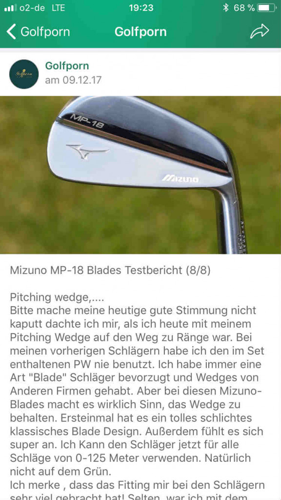 "In der <a title=""Golf Post App"" href=""https://app.golfpost.de"" target=""_blank"">Golf Post App</a> berichtet unser Tester von den MP-18 Blades. (Foto: Golf Post)"