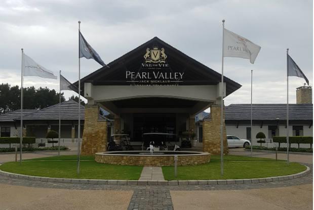Das Clubhaus von Pearl Valley. (Foto: Kai Wunner)