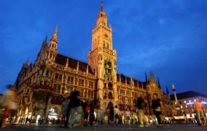 Der Marienplatz und das Rathaus von München. (Foto: Getty)