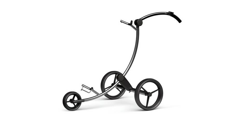 Der GolfQuant 3E Titan Elektro-Trolley setzt mit seinem Design ein Ausrufezeichen. (Foto: GolfQuant)