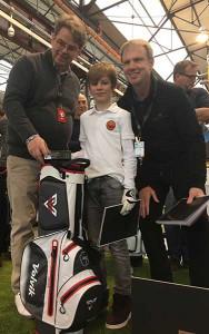 Der Zweitplatzierte Joris mit Messeveranstalter Michael Jakoby (li) und Edelmetall Geschäftsführer Michael Zieseniss. (Foto: Golf Post)