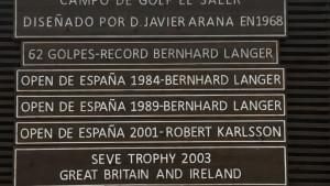 Egal wohin man fährt, Bernhard Langer war schon da und hat geglänzt. (Foto: Golf Post)