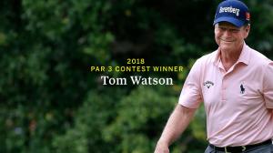 Tom Watson kürt sich mit seinem Sieg beim Par-3-Contest zum ältesten Sieger dieses Events beim US Masters 2018. (Foto: twitter.com/TheMasters)