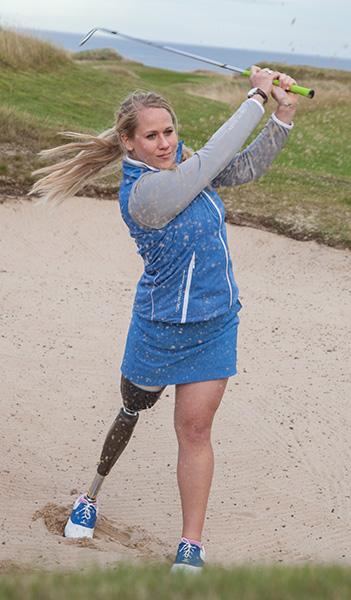 Caroline Larsson war auch mit Prothese eine Golferin auf Tour-Niveau. (Foto: Bernd Ducke/Allianz)