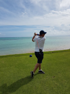 Golf Post User Frank Neumann am Abschlag in der Dominikanischen Republik. (Foto: Frank Neumann)
