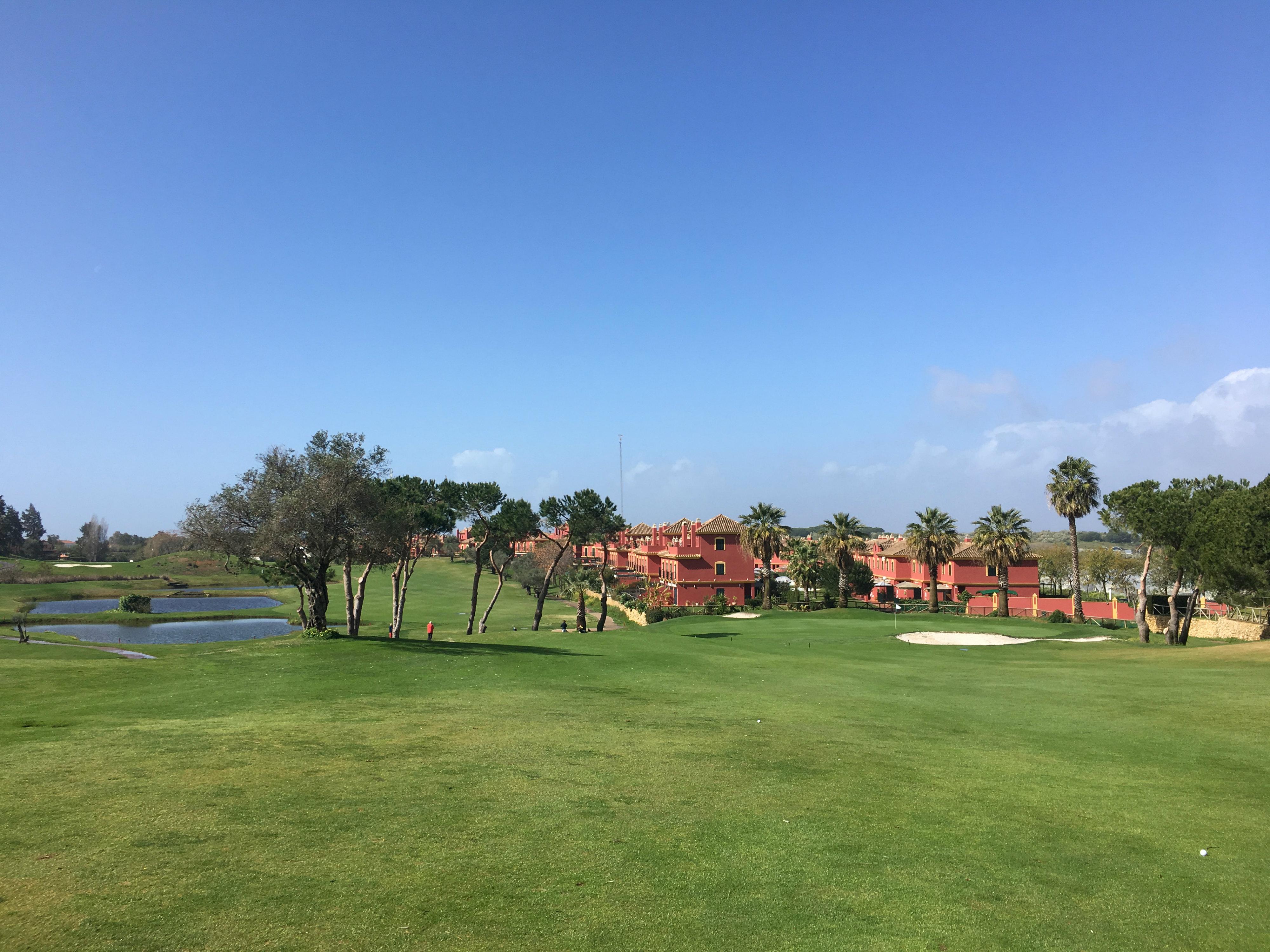 Ausblick auf den Golfplatz des Islantilla Golf Resorts in Spanien. (Foto: Steffen Bents)