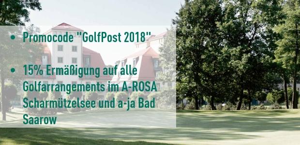 """Sichern Sie sich jetzt 15% Rabatt im A-Rosa Resort Scharmützelsee mit dem Code """"GolfPost 2018"""". (Foto: A-Rosa Scharmützelsee)"""