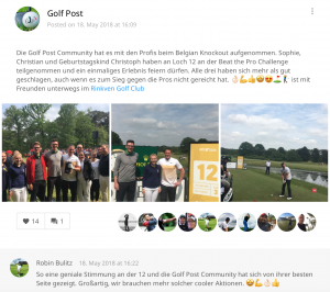 Die Golf Post Community bei der Beat-the-Pro-Challenge des Belgian Knockout. (Foto: Golf Post)