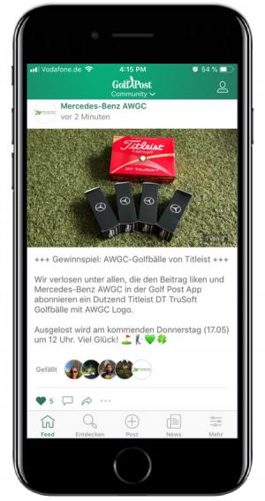 Gewinnspiel AWGC Golf Post App