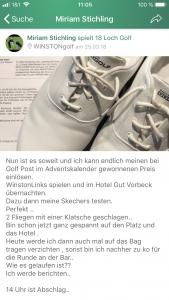 Auch in unserer App wurde fleißig gepostet. Die Golf Post App Community ist somit immer auf dem Neuesten Stand. (Foto: Golf Post)