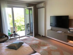 Doppel-Komfortzimmer im Warmbaderhof. (Foto: Jürgen Linnenbürger)