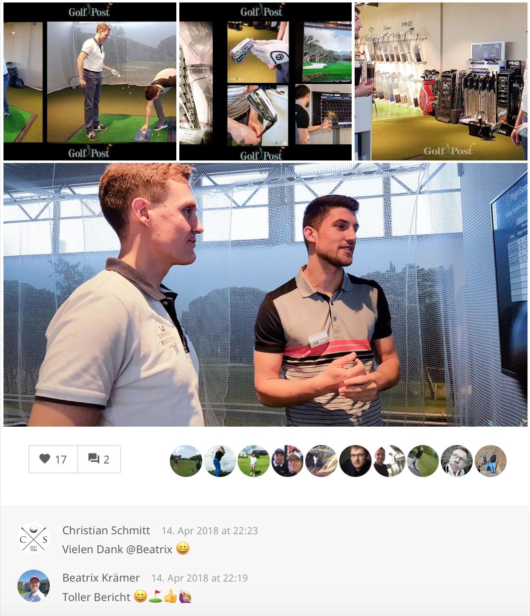 Eindrücke aus der Golf Post Community. (Foto: Golf Post App)