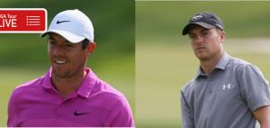 Rory McIlroy und Jordan Spieth bei der Travelers Championship 2018 der PGA Tour. (Foto: Getty)